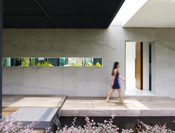 architektonisches element singapur entspannung idee