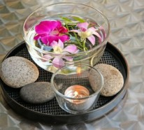 Attraktive Tischdekoration mit exotischen Blumen – 15 tolle Ideen