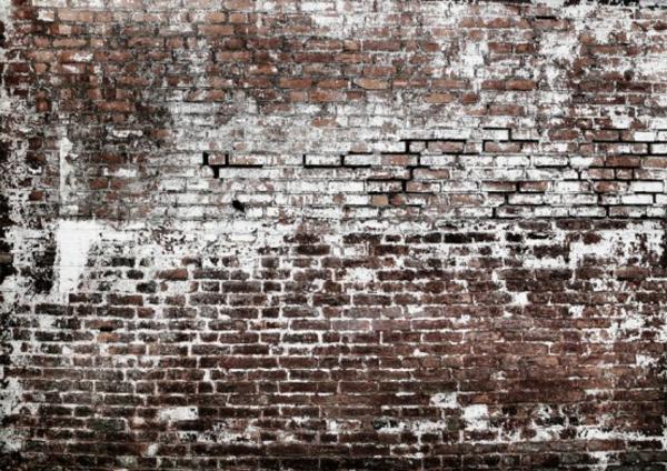 ziegelmauer realistisch aussehen idee tapeten haus wohnung