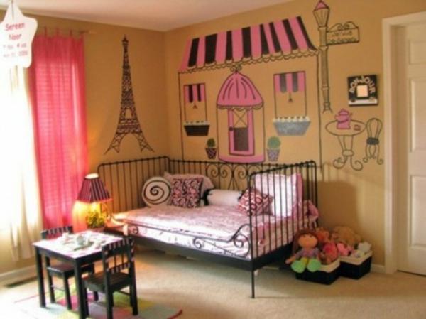 Zimmer In Paris Style Wanddeko Das Zimmer In Paris Style Einrichten U2013 Ideen Für  Teenager ...