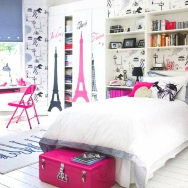 Zimmer In Paris Style Weiß Rosa Schwarz