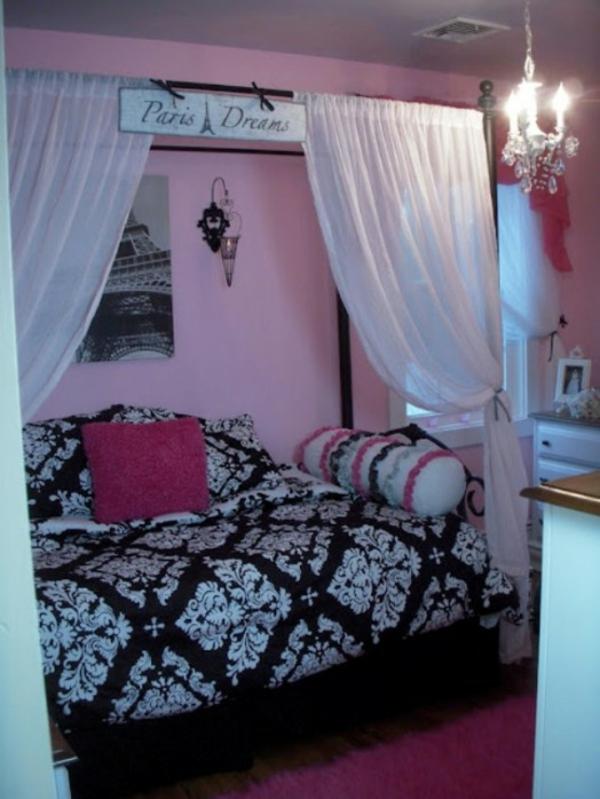 das zimmer in paris style einrichten ideen f r teenager. Black Bedroom Furniture Sets. Home Design Ideas