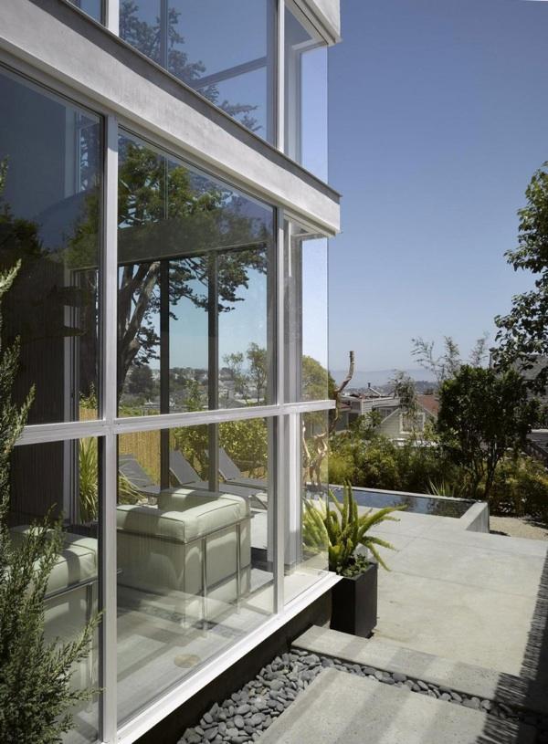 H House glas ideen landschaft design Vorgarten und Hinterhof Ideen