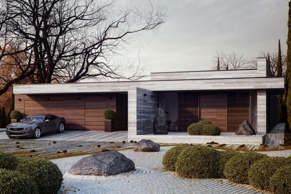 Horizontal House design garten Vorgarten und Hinterhof Ideen