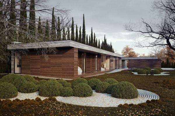 Horizontal House design garten gestaltung vorgarten