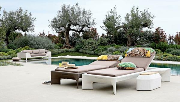 Polyrattan Gartenmöbel tisch stuhl außenbereich auflagen nebentisch