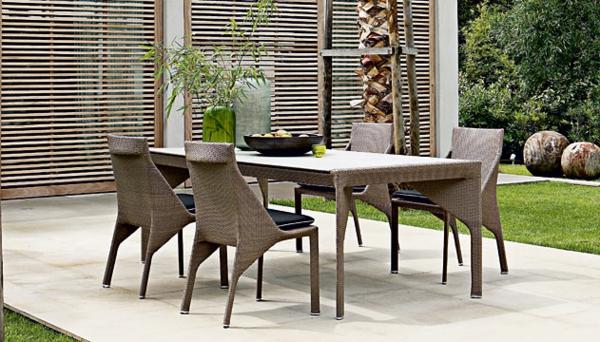 Gartenmöbel tisch stuhl außenbereich design originell