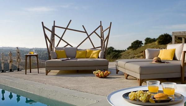 Polyrattan Gartenmöbel tisch stuhl außenbereich