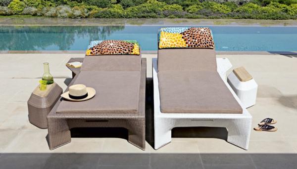 Polyrattan Gartenmöbel tisch stuhl außenbereich liegen