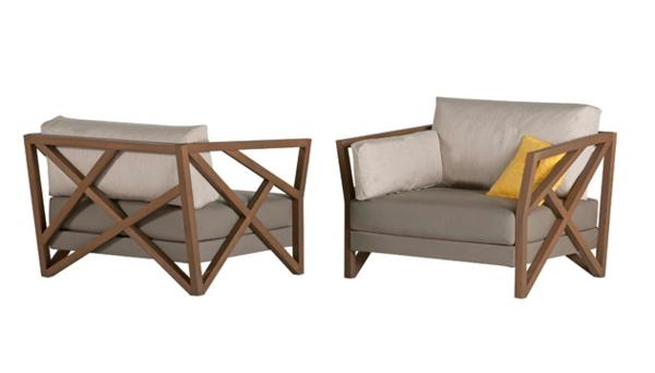 originell Gartenmöbel tisch stuhl außenbereich massiv