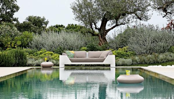 Polyrattan Gartenmöbel tisch stuhl außenbereich pool
