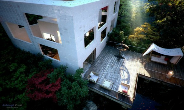 attraktiven balkon gestalten design blumen dach george krallis