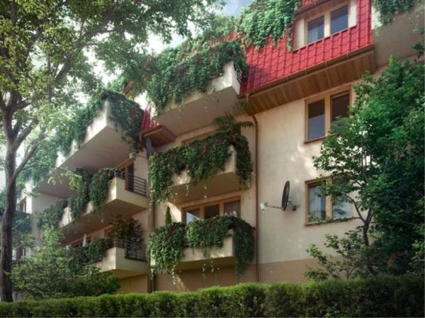 attraktiven garten auf balkon design blumen fassade