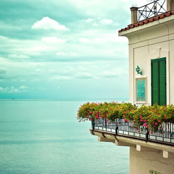 attraktiven garten auf balkon design blumen meer