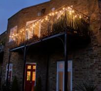 Balkon und Garten Lampen Leuchten – moderne coole Ideen