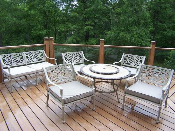 balkon bodenbelag holz idee fliesen möbel Balkon Holzfliesen Ideen