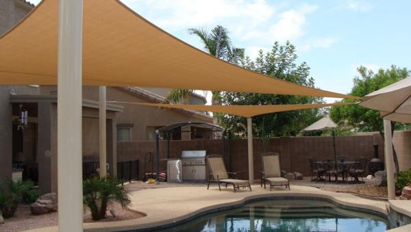 terrasse und garten sonnenschutz ideen sonnensegel und