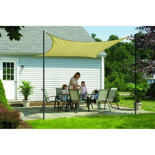 terrasse und garten sonnenschutz ideen sonnensegel und markisen. Black Bedroom Furniture Sets. Home Design Ideas
