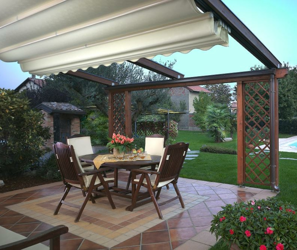 terrasse und garten sonnenschutz ideen - sonnensegel und markisen, Terrassen ideen