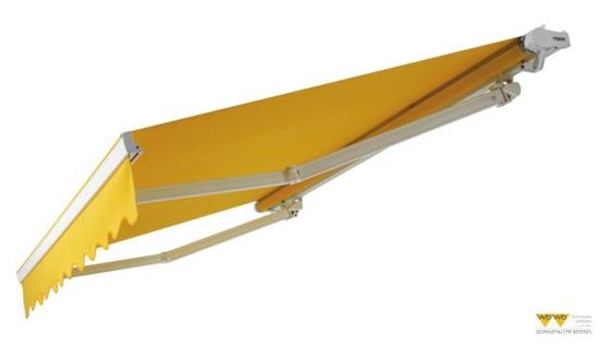terrasse gestalten schattenspender markise gelb