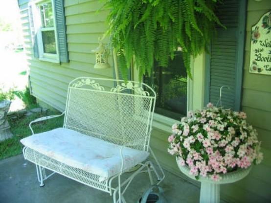 balkon gestalten inspiration shabby chic stil. Black Bedroom Furniture Sets. Home Design Ideas