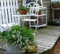 Balkon gestalten – Inspiration: Shabby Chic Stil