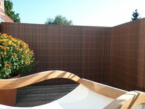 Balkon Sichtschutz aus Bambus - praktische und originelle Idee
