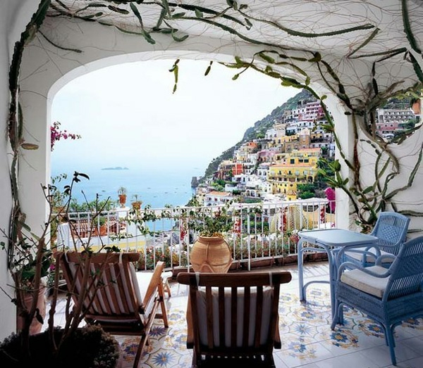 bequeme balkon designs ideen außenmöbel originelle Balkon gestalten ideen