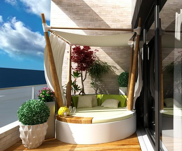 77 praktische balkon designs - coole ideen, den balkon originell, Garten und erstellen