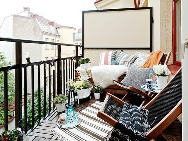 77 praktische balkon designs coole ideen den balkon for Schwarze blumentopfe