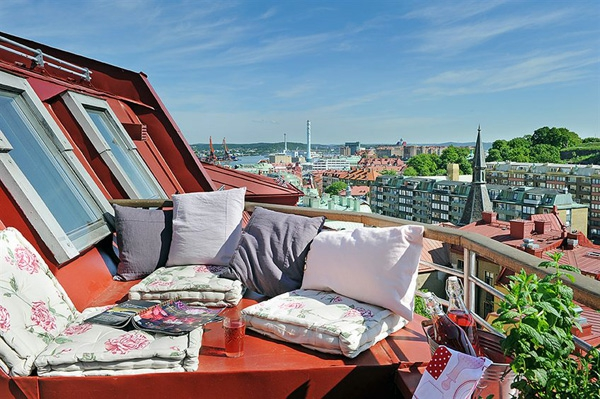 Praktische Balkon Designs Ideendach Kissen