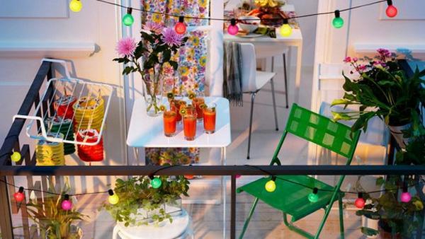 Holz Kasten Tisch Pflanzen Sommer Balkon Deko
