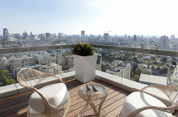praktische Balkon Designs ideen hohe etage