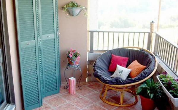 projekt balkon design ideen liege rosa orange weiß