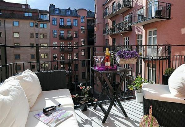 projekt balkon design ideen liege weiß bank