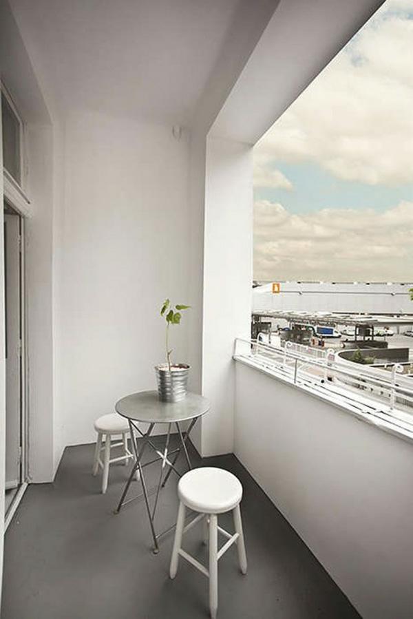 projekt balkon design ideen minimalistisch