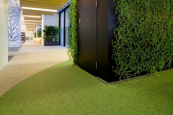 bodenbelag im außenbereich grün kunstgras