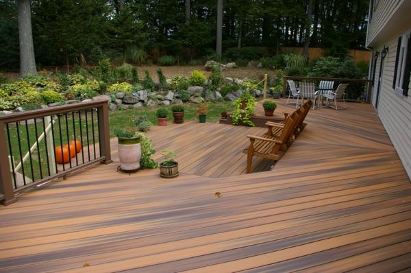 bodenbelag im außenbereich holz braun veranda terrasse