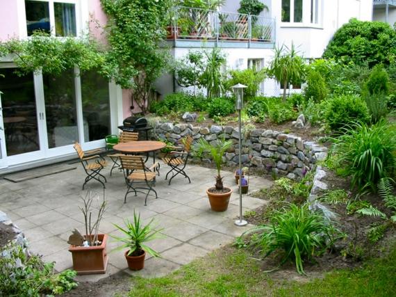 clevere landschaftsgestaltung hinterhof entspannungsecke tisch