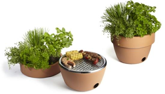coole balkon ideen terrasse grill blumentopf