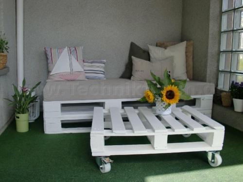 coole balkon möbel ideen euro paletten außenmöbel basteln