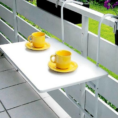 coole balkon möbel ideen hängetisch tasse untertasse gelb
