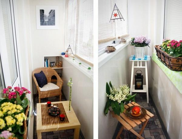 für balkon gestalten designs tisch rattan klapptisch