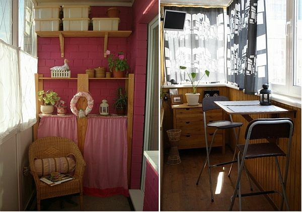 coole deko ideen für balkon designs tisch rosa motive