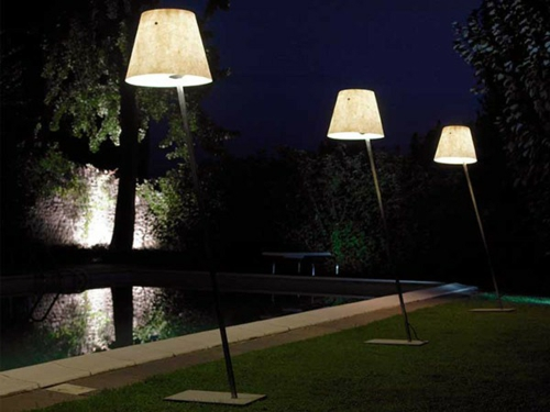 coole gartenbeleuchtung haus stehlampen draußen