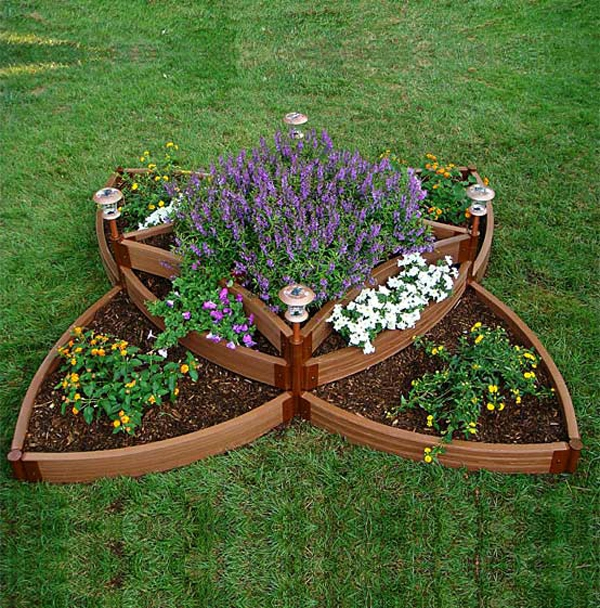 Coole gartengestaltung ungew hnliche ideen f r ihre for Circular raised garden bed ideas