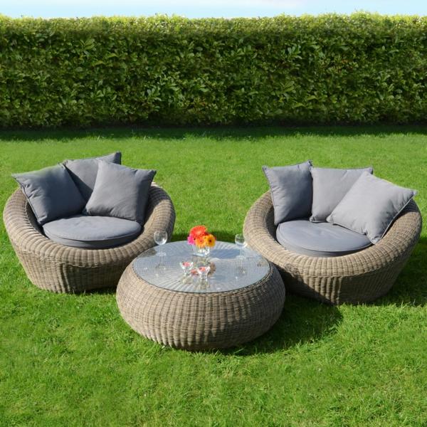 Gartenmobel Kunststoff Gebraucht : coole rattan gartentisch designs braun rattan monochromatisch