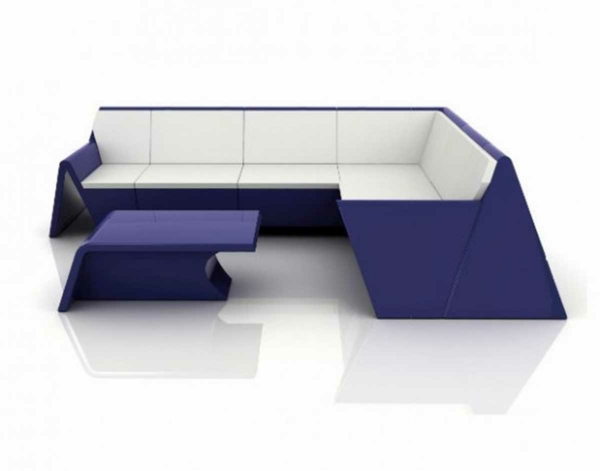 coole gartentisch designs lila gartenmöbel sofa