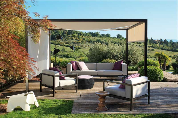 coole idee Sofa und Relax Liege im Garten  überdachung