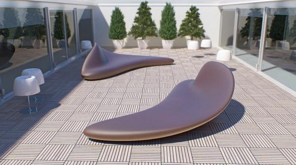 wohnzimmer liege leder:coole idee relax liege und sofa im garten attraktiv modell